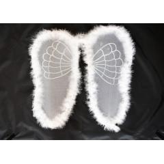 CARNIVAL FASHION Anjelské krídla biele na karneval 50 cm