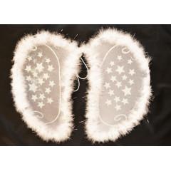 CARNIVAL FASHION Anjelské krídla biele  s hviezdičkami na karneval  50 cm