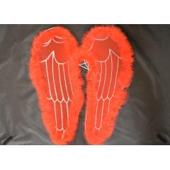 CARNIVAL FASHION Anjelské krídla červené na karneval 50 cm