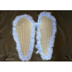 CARNIVAL FASHION Anjelské krídla modré na karneval 50 cm