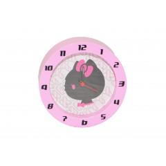 HOUSEHOLD Budík plastový rúžový Q10 cm