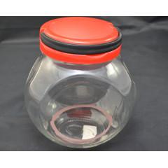 KITCHEN CLASSIC Dóza sklenená s plastovým uzáverom 19x16x12 cm