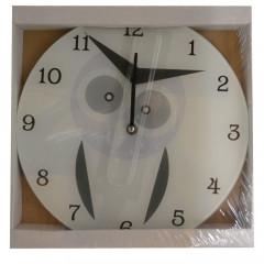 HOME DECO Nástenné hodiny ,,SOVA,, Q 30 cm