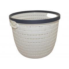 HOBBY PLASTIC Košík plastový  Q 19 cm, v 14 cm