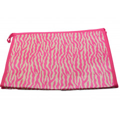 ACCESSORIES & STYLE Kozmetická taška  27 x 18 cm  ružová, biele vzory