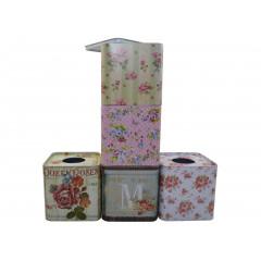 GIFT BAG & BOX Krabička na servítky  plechová  15,5x12,5x12,5 cm