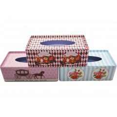 HOME DECO Plechová krabička na servítky 22x12x7,5 cm