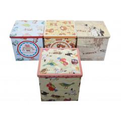 HOME DECO Plechová krabička malá 9,5x9,5x9,5 cm