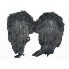 CARNIVAL FASHION Anjelské krídla čierne na karneval  50 cm