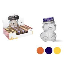 KITCHEN CLASSIC Dóza sklenená medvedík s uzáverom 30 ml