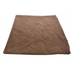 HOME DECO Obliečka na vankúš 38x38 cm, kvalitný zips, pevný materiál odtieň hnedej