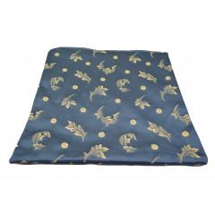 Obliečka na vankúš 38x38 cm, kvalitný zips, pevný materiál modrá so vzorom