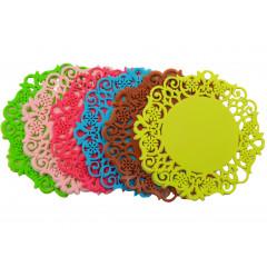 HOBBY PLASTIC Podložky pod poháre 6 kusov silikónové Q 9 cm