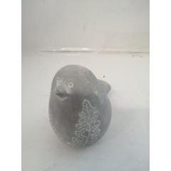 HOME DECO Vtáčik šedý so vzorom