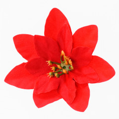 CHRISTMAS DECOR Kvet poinsettia hlavička 6 ks 5 cm