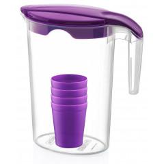 HOBBY PLASTIC Džbán plastový 1,75 l + 4 pohár  14,5x10,2x22cm