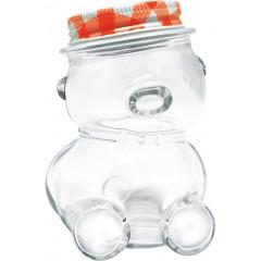 KITCHEN CLASSIC Dóza sklenená medvedík s uzáverom 80 ml