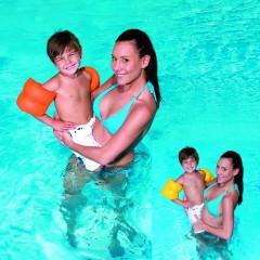 TOYS GAME Rukávniky na plávanie oranžové 20x20 cm