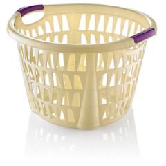HOBBY PLASTIC Kôš na prádlo okrúhly 30 l rozmer 47x48,5x31 cm