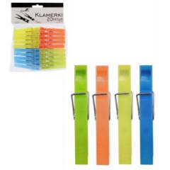Štipce plastové 20ks  72 mm  670856