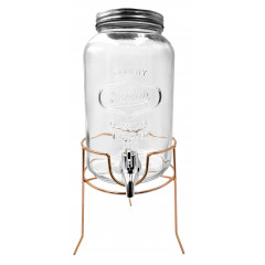 GLASS FEELING Nádoba sklenená s ventilom na stojane   3,2 l