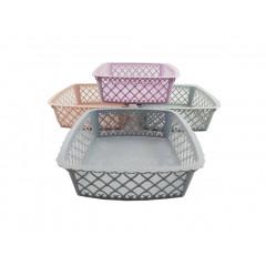 HOBBY PLASTIC Košík plastový 23x23x8 cm
