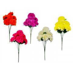 FLOWER HARMONY Kytica chryzantéma 9 hlavičiek 60 cm