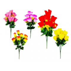 FLOWER HARMONY  Kytica ruží 7 hlavičiek 42 cm