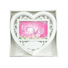 PHOTO SKILL Fotorámik plastový ,,srdce,, 15x10 cm