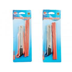 HOUSEHOLD Orezávací nožík univerzálny + dve ceruzky