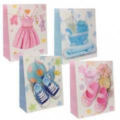 """GIFT BAG & BOX Darčeková taška  """"NEW BABY"""" 32 x 26 x 12 cm"""