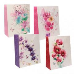 """GIFT BAG & BOX Darčeková taška  """"KVETY"""" 32 x 26 x 12 cm"""