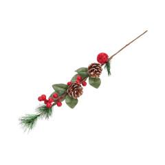 CHRISTMAS DECOR Vianočná dekoračná vetvička 58 cm