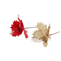 CHRISTMAS DECOR Kvet umelý 50 cm