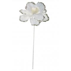 CHRISTMAS DECOR Vianočný kvet biely 55 cm