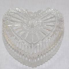 GLASS FEELING Šperkovnica sklenená  SRDCE 7x6x3 cm