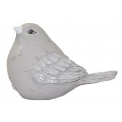HOME DECO Vtáčik keramický šedý 24x18 cm